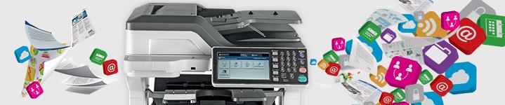 OKI lanciert neue kleine A3-Farb-Multifunktionssysteme