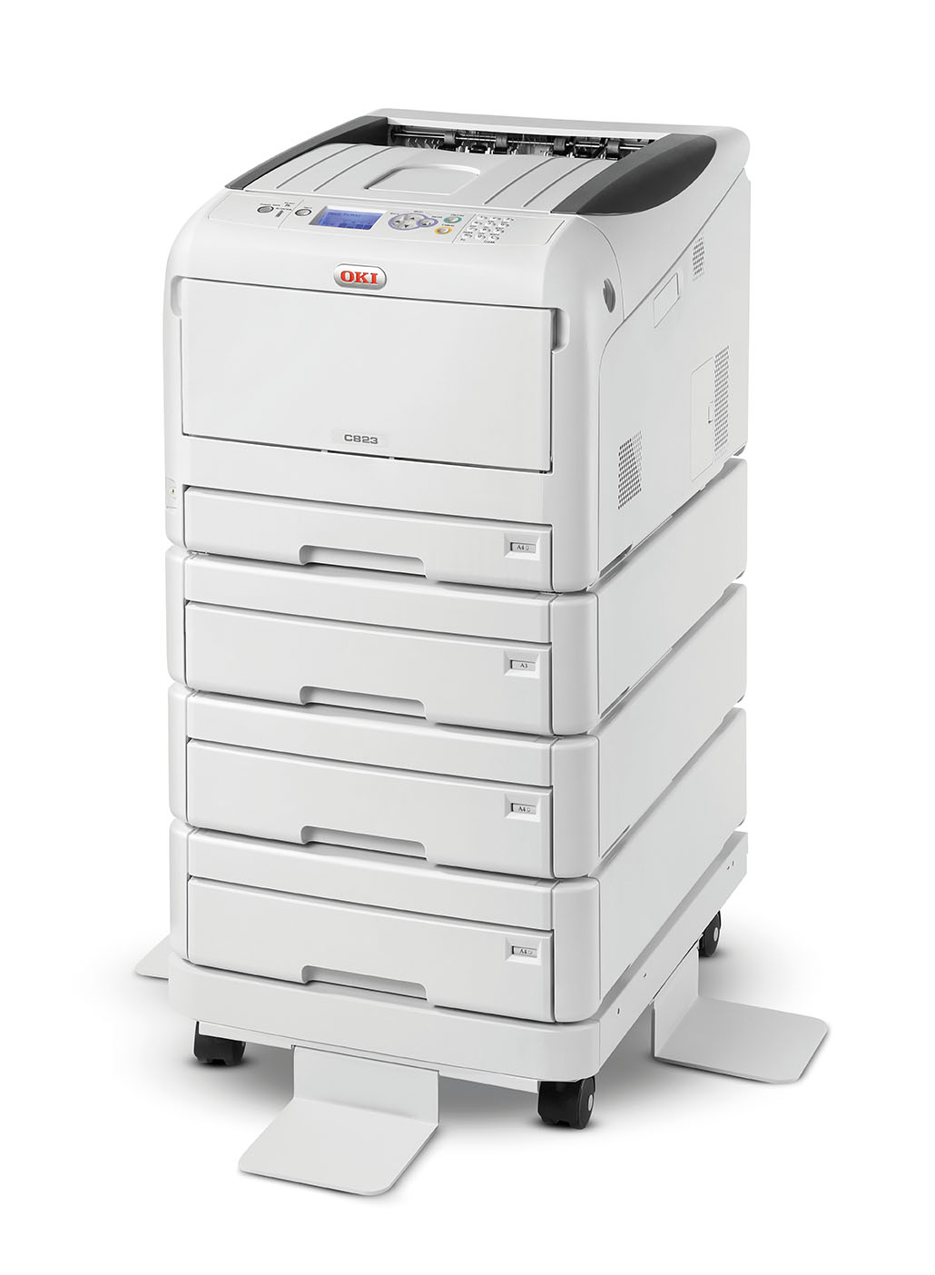 oki c823dn laserdrucker a3 farbe 23 seiten minute. Black Bedroom Furniture Sets. Home Design Ideas