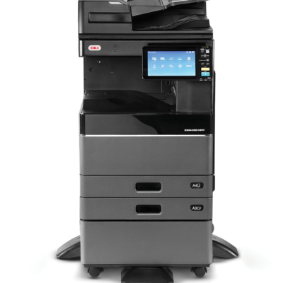 OKI ES9466MFP_front_with_DSDF_Cabinet
